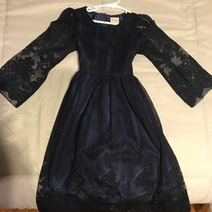 Other - Navy and lace girls dress